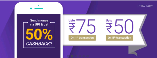 Phonepe app offer 1st-5-transection