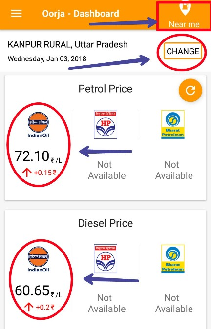 Online-petrol-and diesel Fuel price check