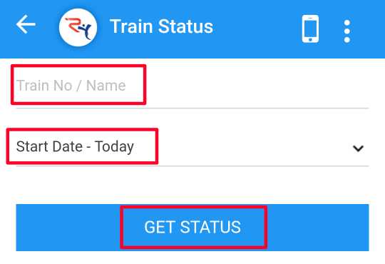 Rail yatri Website se Train ka Status janne