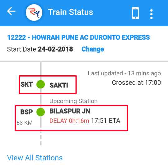 Browser me Rail yatri Website Se Train Ka Status jaane