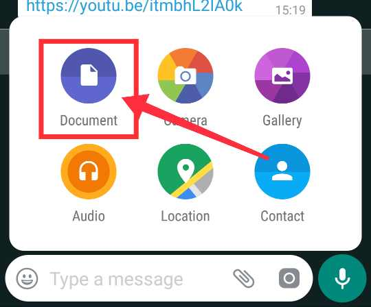Whatsapp se Document share karen