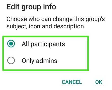 Whatsapp Group Name Icon, Discription Changing Disallow kaise kare