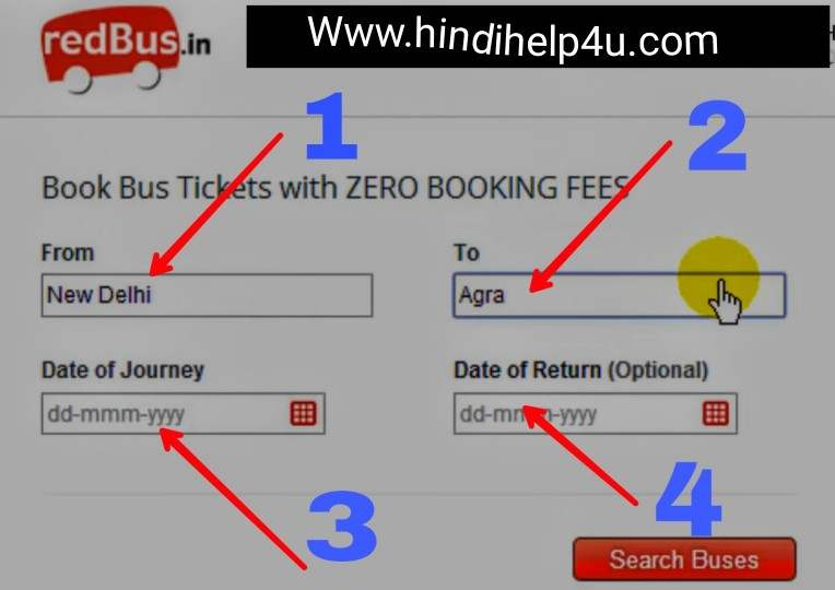 Red bus se Ticket book
